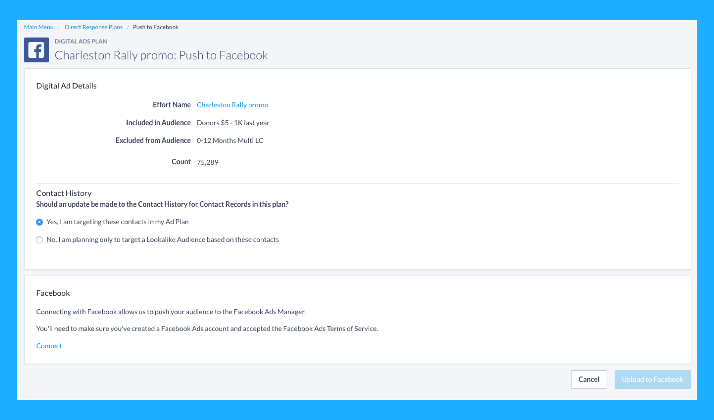 Powerful, Targeted Facebook Ad Integration Now Available to Campaigns